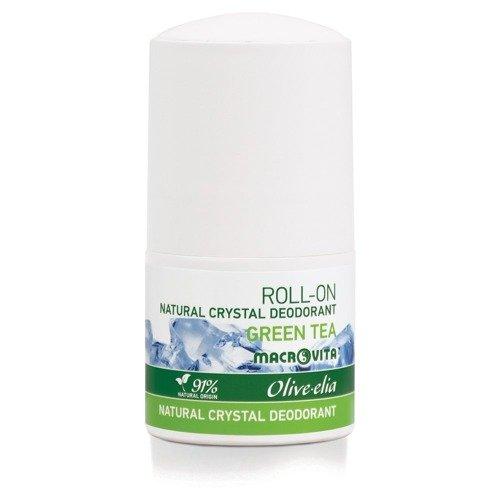 MACROVITA OLIVE-ELIA dezodorant roll-on z naturalnym kryształem GREEN TEA 50ml